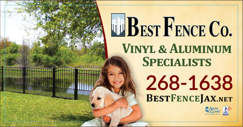 Best Fence Company of Jacksonville is proud to serve you and your pets!